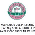 Lista de aspirantes aceptados de la Segunda Convocatoria para el Ciclo Escolar 2021-2022
