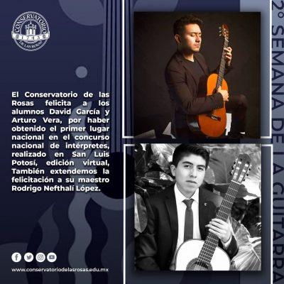 ¡Felicidades David Garcia y Arturo Vera!